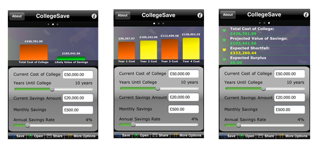 CollegeSave Screen shots